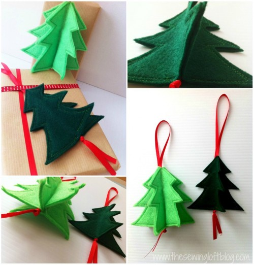 3d holiday ornament easy 3d felt christmas tree ornament