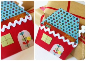 {How To} Easy Holiday Wrapping – Gift Card Holder