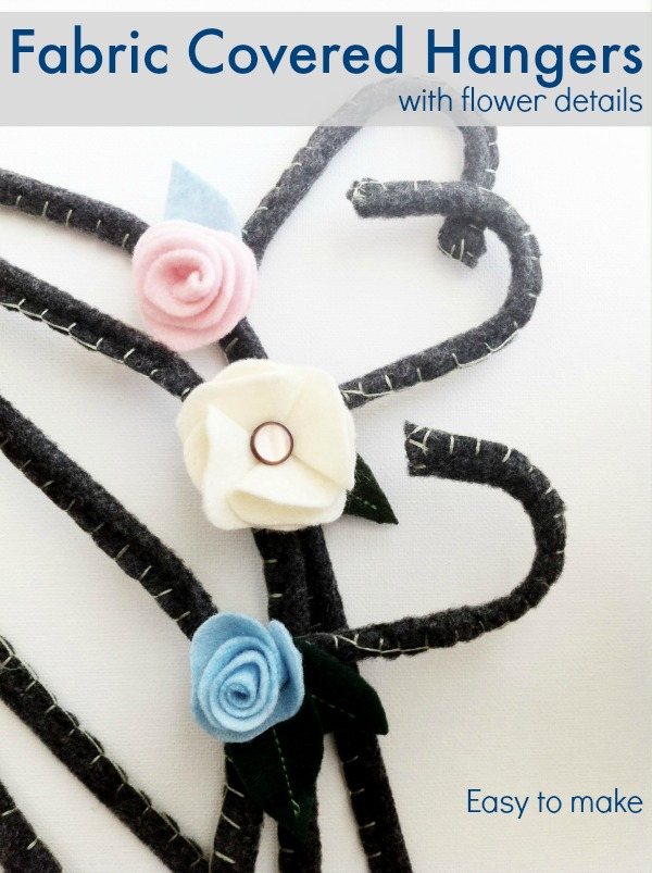 Easy to make fabric covered hangers.  These are a great gift idea.  The Sewing Loft