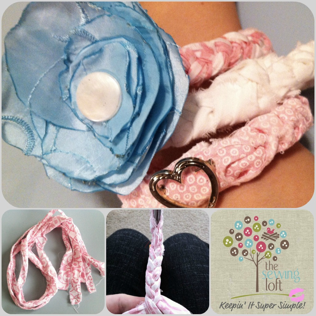 {KISS How To} Flirty Fabric Bracelet
