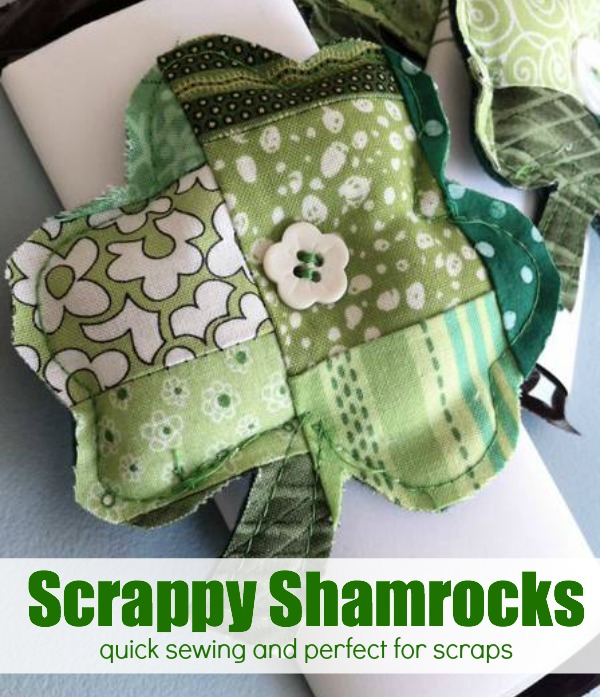 Scrappy Shamrock | Easy St Patrick's Day Decorations | Sewing Projects | Featured