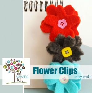 {How To} Flower Clips: Easy Craft