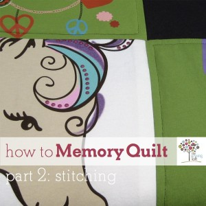 {How To} Memory Quilt – part 2 stitching