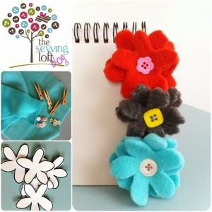 Easy Flower Clips | The Sewing Loft