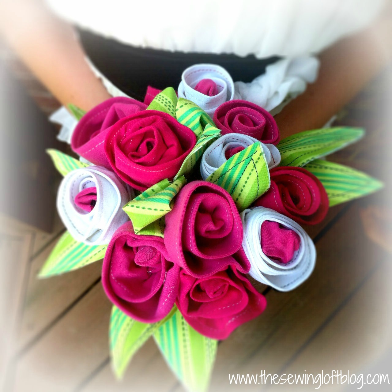 Tee Shirt Flowers via TheSewingLoft.com