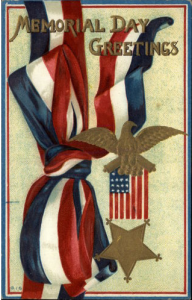 Patriotic Ribbons c1910 Postcard
