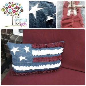 Ruffle Flag Pillow How To