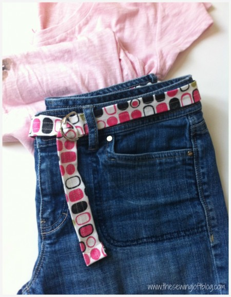 Simple Fabric Belt -The Sewing Loft