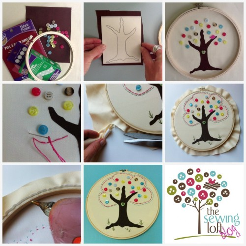 Button Tree Artwork - The Sewing Loft