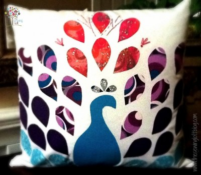 How to make a Peacock Pillow by The Sewing Loft