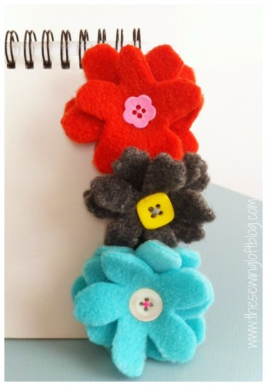 flower clips by The Sewing Loft