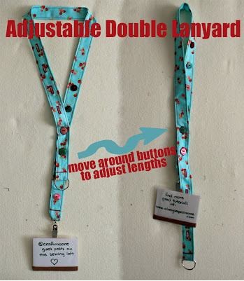 How to make a double lanyard on The Sewing Loft