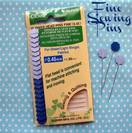 Fine Sewing Pins -The Sewing Loft