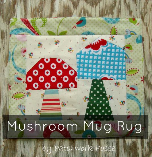 Mushroom Mug Rug | The Sewing Loft