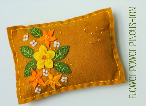 Flower Pin Cushion -The Sewing Loft