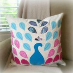 Peacock Pillow - The Sewing Loft