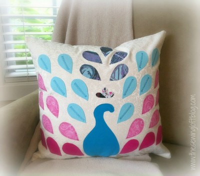 Peacock Pillow - The Sewing Loft & 10 Tips for making pillows - The Sewing Loft pillowsntoast.com