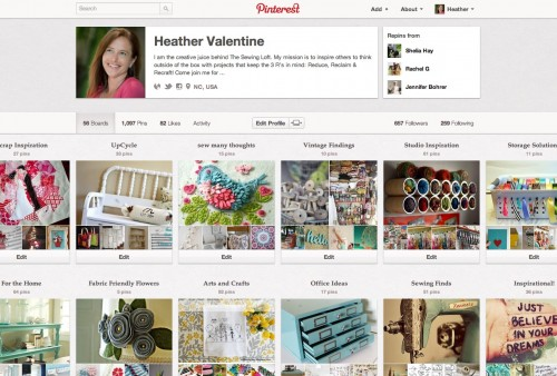 The Sewing Loft Pinterest Boards