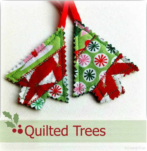 Quilted Trees by thesewingloftblog.com Baby Lock's Snappy Holidays