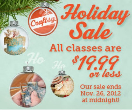 Craftsy Classes Black Friday 2012 Sale