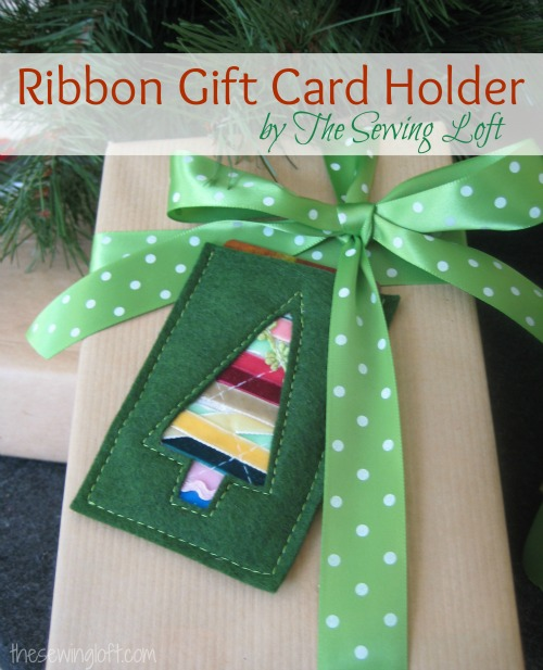ribbon gift card holder by thesewingloftblog.com #diy #sewing #holidaydiy