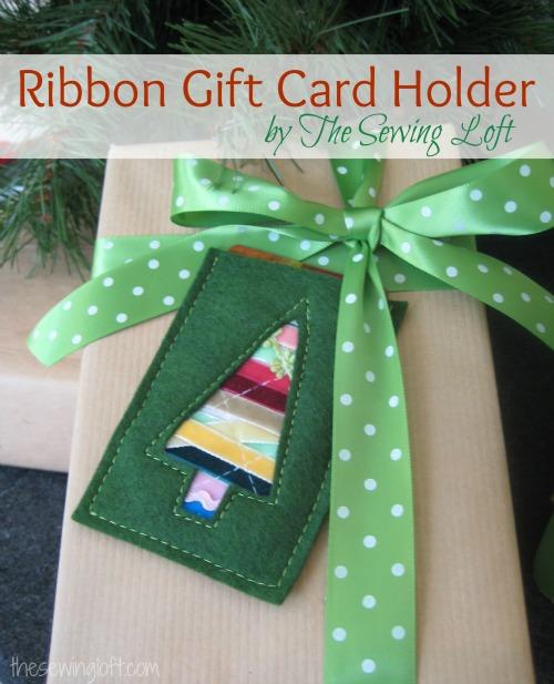 gift card holder by thesewingloftblog.com #diy #sewing #holidaydiy
