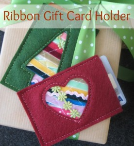 Ribbon Gift Card Holder