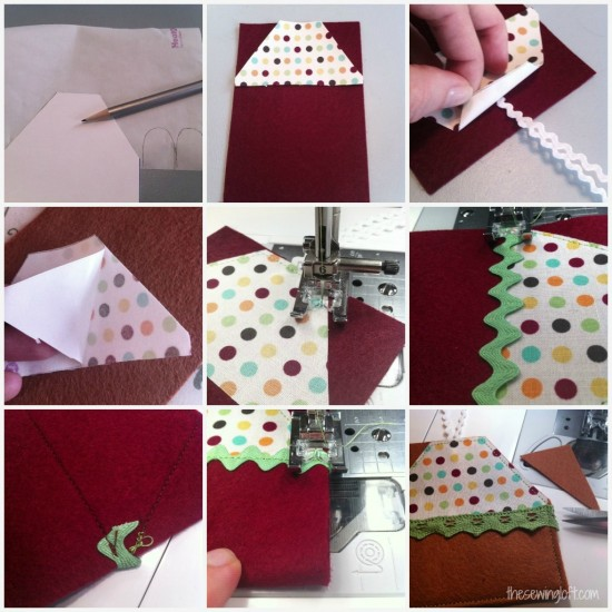 Village Gift Card Holder thesewingloftblog.com #diy #sewing #holiday