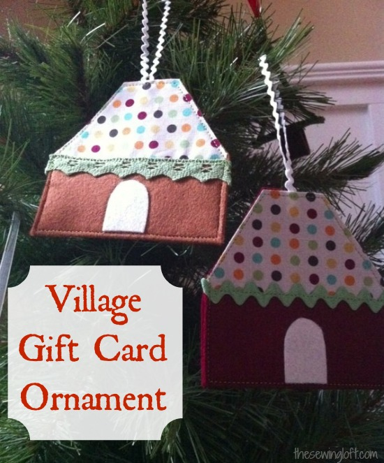 Village Gift Card Ornament