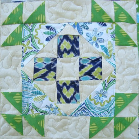 3-D Quilt Block via thesewingloftblog.com