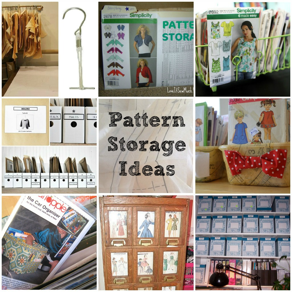 pattern storage ideas and tips | round up of pattern storage ideas