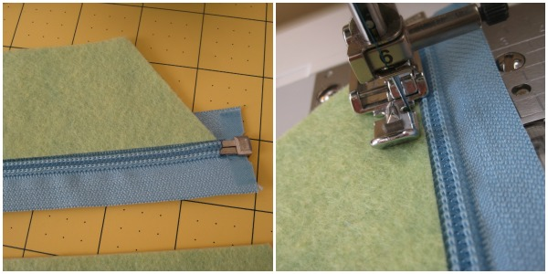 sewing a zipper The Sewing Loft