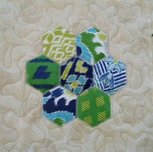 Quick as a Fox Block 5- Hexagon Appliqué