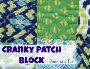 Cranky 9 Patch Quilt Block- Quick as a Fox