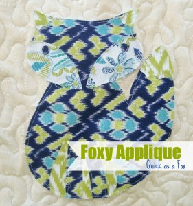 Foxy Appliqué Block 9- Quick as a Fox Quilt Along