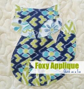 Foxy Applique Quick as a Fox thesewingloftblog.com