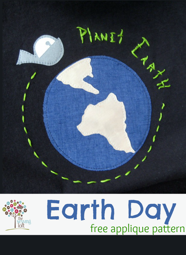 Earth Day Appliqué Design | Easy project by The Sewing Loft