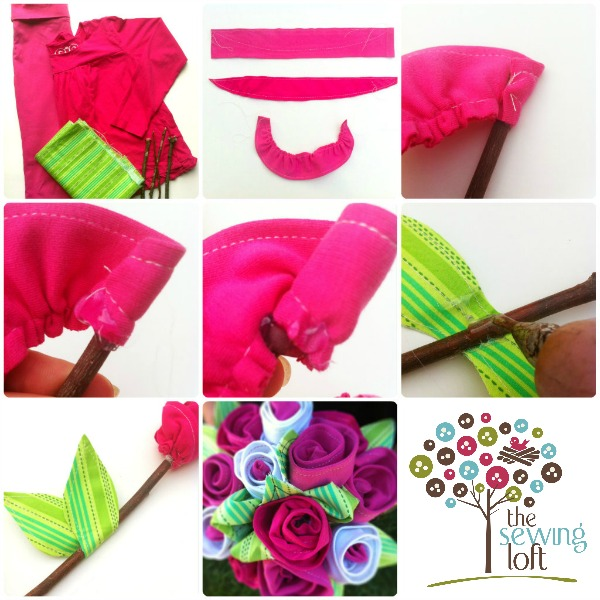Easy Fabric Flowers | The Sewing Loft
