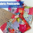 Fabric Postcards made from scraps
