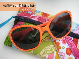 Funky Sunglass Case from scraps | The Sewing Loft