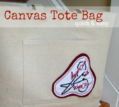 Quick & Easy Canvas Tote Bag   The Sewing Loft