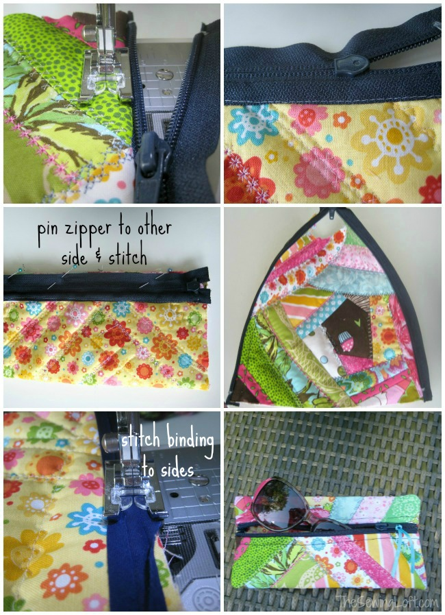 Turn fabric scraps into a funky sunglass case | The Sewing Loft