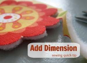 Add Dimension with Fusible Fleece: Quick Tip