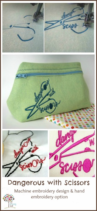 Dangerous with Scissors Embroidery Design | The Sewing Loft