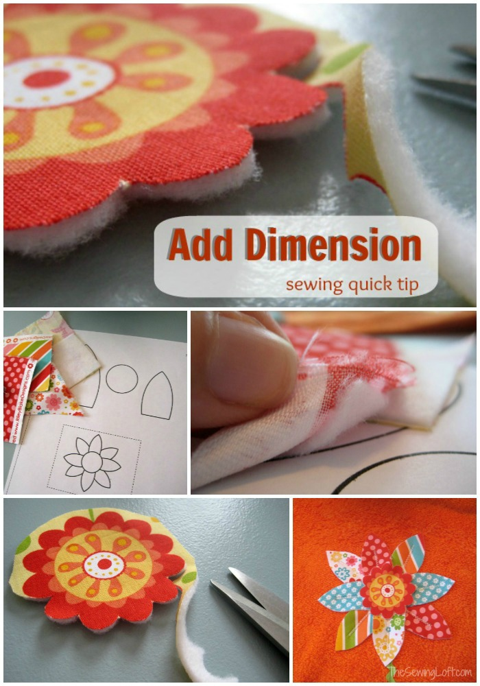 Adding dimension with fusible fleece | The Sewing Loft