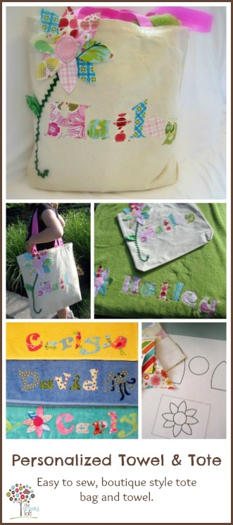 Personalized Towel & Tote Bag Pattern | The Sewing Loft