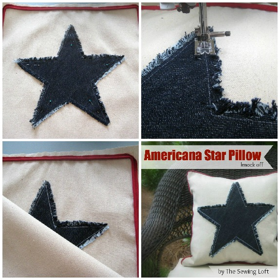 Americana Pillow Knock Off by The Sewing Loft