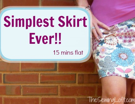 Simple Skirt   The Sewing Loft