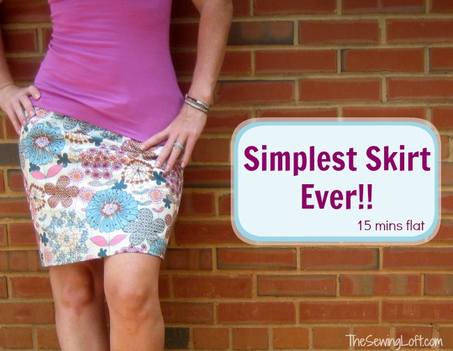 Simple Skirt In 15 Minutes The Sewing Loft