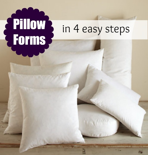 Throw Pillow Insert Sizes : Pillow Form Insert: Printable Size Chart - The Sewing Loft